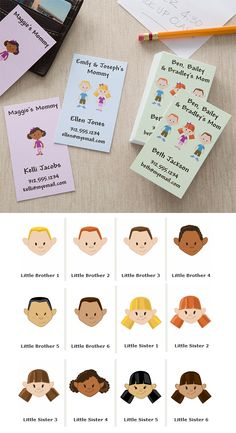 These Personalized Mommy Calling Cards are such a great idea! They're cute, colorful and handy when you need to setup a play date or just give your information to friends, family, babysitters, and more! You can customize them so the characters look just like your kids and you can add your own info however you'd like! They come in 3 different colors and are sold in sets of 72 - they're on sale now for only $11.20 a set! #Mom #CallingCard