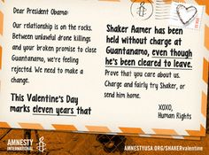 11 Years in Guantanamo on Valentine's Day: Charge Shaker Aamer or Send Him Home