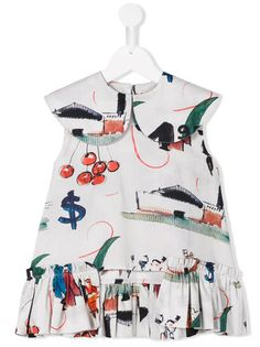 Wolf & Rita Luna ブラウス Baby Girl Fashion, Kids Fashion, Fashion Outfits, Little Dresses, Girls Dresses, Dress Anak, Trendy Baby Clothes, Kids Boutique, Kids Patterns
