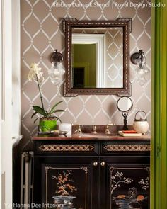 Paint your walls with modern and contemporary wall stencils. Your home decor can reflect your favorite colors and patterns thus making custom DIY decor!