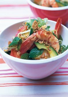 Peppery prawn noodle salad
