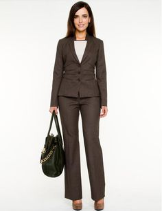 Womens Brown Suit Dress Yy