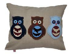 Blue Owlets Cushion