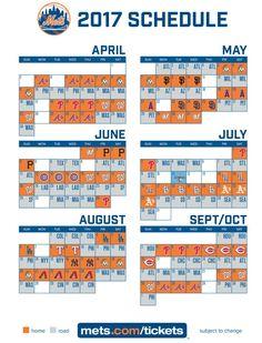 2017 Mets Schedule