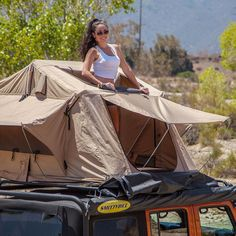 Nice Jeep Roof Top Tent Option http://www.rooftoptentstore.com/smittybilt-2783-folded-tent-for-jeeps-other-4x4s/