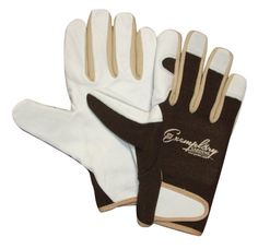Delightful Leather Gardening Gloves For Women And Men. Adjustable Hook And Loop  Fastener And Spandex Back