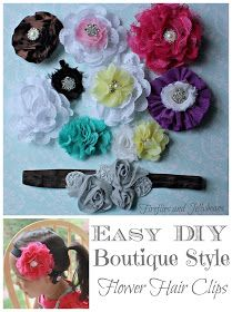 Fireflies and Jellybeans: Easy DIY Boutique Styled Hair Clips