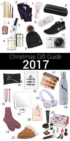 Christmas gift guide 2017 perfect for the holidays and the season of gift givin Christmas Gifts For Him, Christmas Gift Guide, Holiday Gifts, Christmas Gift Ideas For Teenage Girl, Christmas Ideas, Xmas, Teenage Girl Gifts, Gifts For Girls, Gifts For Her