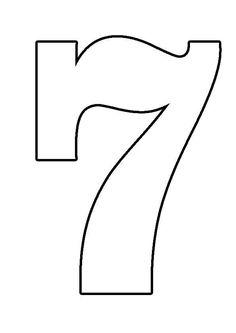 Moldes De Numeros Para Imprimir 6 Kid Crafts Numbers Ideas Para