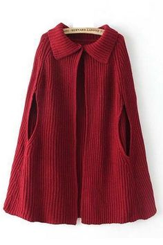 Red Lapel Sleeveless Sweater