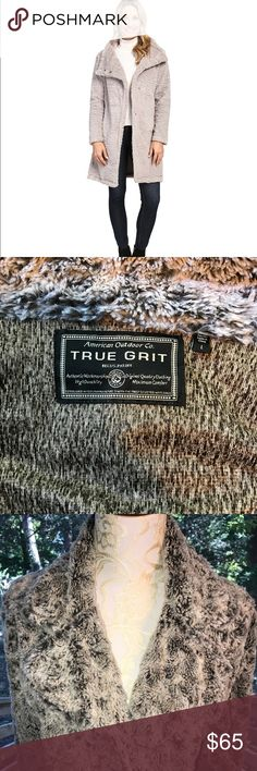 True Grit Dylan Faux Fur Fleece Coat Size L SKU: #8784049 Cozy clothing that elevates your fashion to the next level. Plush faux fur jacket with oversized collar. Snap front. Long sleeves. Side hand pockets. Straight hemline. Faux Fur: 100% polyester; Lining: 100% polyester. Machine wash cold and tumble dry low. Imported. Product measurements were taken using size SM. Please note that measurements may vary by size. Measurements: Length: 37 in True Grit Jackets & Coats Pea Coats