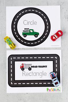 🚗 FREE Printable Road Shape Mats - Shapes Activity for Preschoolers