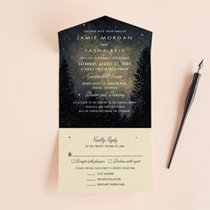 35 Stylish Wedding Invitations That You Can Actually Afford Wedding Invitation Inspiration, Cheap Wedding Invitations, Wedding Paper, All In One, Gray, Night, Yellow, Wedding Stuff, Dreams