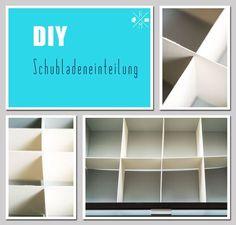 Ordnung in Schubladen durch Schubladentrenner - selbst gemachte Schubladeneinteilung   relleomein.de #ordnung #organize #diy