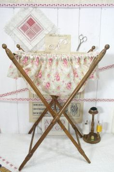 A standing basket similar to this would be nice at the end of my guest room bed for additional pillows and blankets