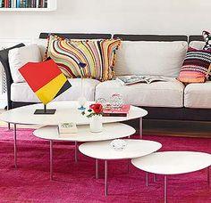 Mesas nido de diseño para el salón