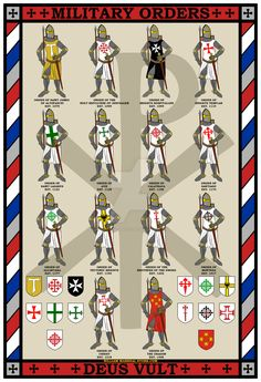 Portuguese Medieval Military Orders: Aviz and Cristo (Christ) Medieval Knight, Medieval Fantasy, Knights Templar History, Knight Orders, Knights Hospitaller, Crusader Knight, Military Orders, European History, Ancient History