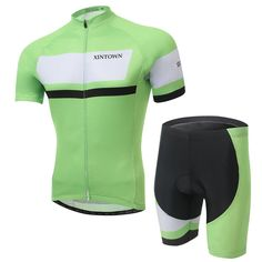 Men Cycling clothing Men Cycling wear Cycling jersey short sleeve  Suite Breathable Quick Dry Red Green Blue 234
