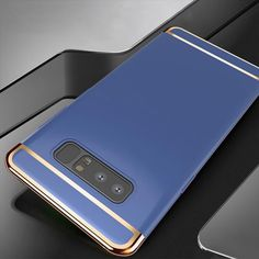 Luxury 3 in 1 Case for Samsung Galaxy Note 8 Samsung Mobile, Pc Cases, Samsung Galaxy Note 8, Gold Material, Blue Gold, Mobile Phones, Color Black, Gadgets, Notes