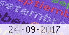 Personalize your cross stitch project with the Cross Stitch Writer.  http://www.stitchpoint.com/eng/tool/alph/cross-stitch-writing-tool.php