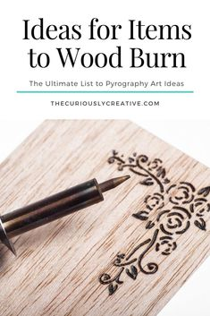 The Ultimate List of Pyrography Art Ideas: Items to Wood Burn - The Curiously Creative,Looking for ideas on items to wood burn? Find pyrography art ideas by check out these amazing pyrography artists below for some inspiration. Wood Burning Tips, Wood Burning Techniques, Wood Burning Crafts, Wood Burning Patterns, Wood Crafts, Men Crafts, Wood Burning Stencils, Wood Burn Designs, Pyrography Patterns