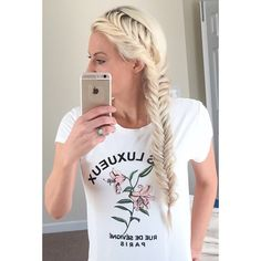 """Day 5 of our #7dayhairtwin hosted by @lifestylebycass @mandiesuestylez and I! Love a #frenchfishtail any day of the week. Always versatile and goes with…"""