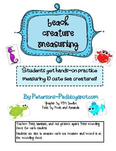 This is a fun, free activity that goes along with my 'Math is a Beach' packet.  My students LOVE this activity. They get hands-on practice meas...
