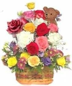 Mixed Flowers With Teddy To Pune Delivery On Your Chosen Date Offering Home Services Without Any Charges