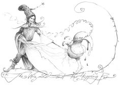 The_Wizard_and_the_Hopping_Pot by somelatevisitor on deviantART The Warlocks, Pencil And Paper, Harry Potter Fan Art, Book Nerd, Deviantart, Drawings, Illustration, Artist, Hermione