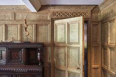 Oak panelling — Jack Badger Ltd Wood Panel Walls, Wood Wall, Laurel House, Wooden Panelling, Basement Inspiration, Oak Panels, Secret Rooms, Badger, Home Projects