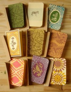 Handprinted Cards  by Eliza Jane Curtis of Morris & Essex