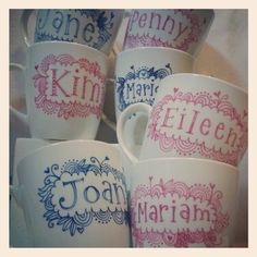 cute personalised mugs
