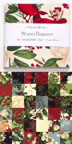 Charm Pack - Winter Elegance by Moda! This collection captures the beauty and serenity of nature during winter and will surely add a touch of classic elegance to your holiday quilt projects