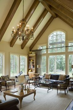 Wouldn't you love to entertain your guests in this elegant, craftsman style great room? To see the actual floor plans for this home, click here: http://www.thehousedesigners.com/plan/letterham-1891/