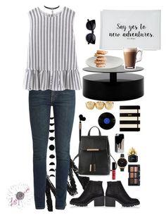 """Black"" by loryream on Polyvore featuring moda, Yves Saint Laurent, River Island, Olivia Burton, Marc Jacobs, NARS Cosmetics, NYX, Kate Spade, Cartier y Ben's Garden"