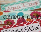 90 Custom Printed Fabric Labels Your Choice Sew on or Iron on. $25.00, via Etsy.