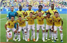The Colombia players pose for a team photo prior to the 2018 FIFA World Cup Russia group H match between Senegal and Colombia at Samara Arena on June 2018 in Samara, Russia. World Cup 2018 Teams, Fifa World Cup, James Rodriguez, Team Photos, A Team, Ronald Mcdonald, Sexy Men, Soccer, Football