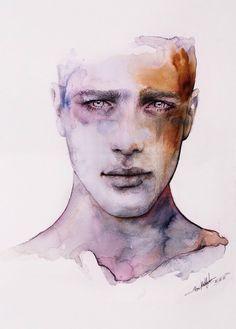 minimalist portrait drawing line watercolour - Google Search