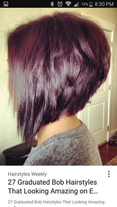 We present to you the angled bob. An angled bob looks great with any face shape. Angled bob haircuts are fun, feminine, and a great way to wear short hair. Angled Bob Hairstyles, Inverted Bob Hairstyles, Stacked Bob Haircuts, Pixie Haircuts, Graduated Bob Haircuts, Swing Bob Hairstyles, Bobbed Haircuts, Cute Haircuts, Wedge Hairstyles