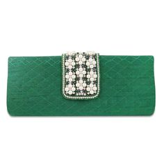 Beautiful cotton blend fabric woman pearl beads and rhinestones clutch purse /handbag.this is img Green Clutches, Pearl Beads, Clutch Purse, Purses And Handbags, Rhinestones, Velvet, Pearls, Woman, Fabric