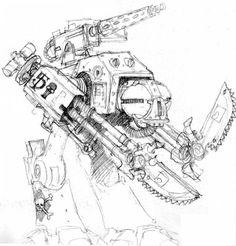 imperial robot concept -- crusader