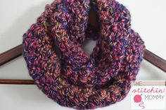 I made this gorgeous little Neon Lights Infinity Scarf for my little girl with one skein of Red Heart Medley! It's an easy pattern that works up quickly!