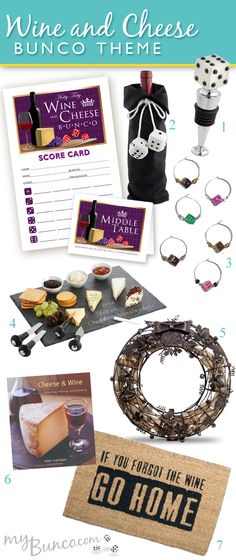 Wine and Cheese Bunco Party