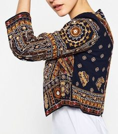 Ethnic embroidered jacket by ZARA