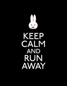 """That rabbit's dynamite!"" : )    Run away ART PRINT by John Tibbott on Society6"