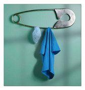 Safety pin wall art & hanging hooks
