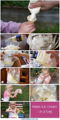 How To Make Ice Cream - Homemade Ice Cream - Kids' Cooking