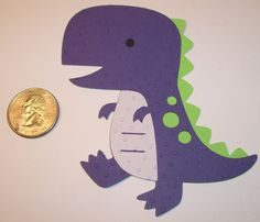 Dinosaur Paper Piecing for Scrapbooking, Embellishments, Die Cuts