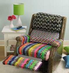 Cover furniture with duck tape!!