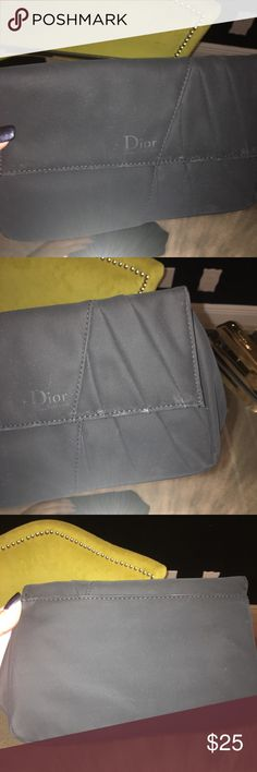 Dior parfum cosmetic pouch Dior parfum cosmetic pouch - velvet feel some shiny spots due to kind of fabric (see pics). Opens with magnetic closure Dior Bags Cosmetic Bags & Cases